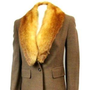 Michael Kors Collection | Fox Trimmed Tweed Suit